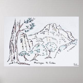 Montagne Sainte-Victoire | südlich von Frankreich Poster