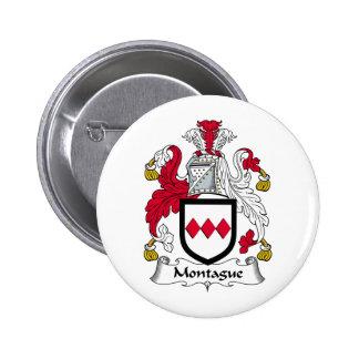 Montague Familienwappen Runder Button 5,1 Cm