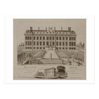 Montague Haus, jetzt das British Museum, 1813 Postkarte