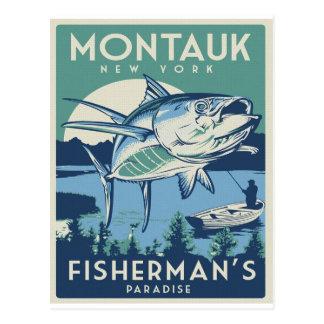 Montalk, NY Vintage Reise-Plakat-Postkarte Postkarte
