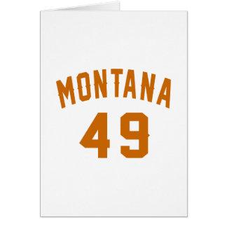 Montana 49 Geburtstags-Entwürfe Karte