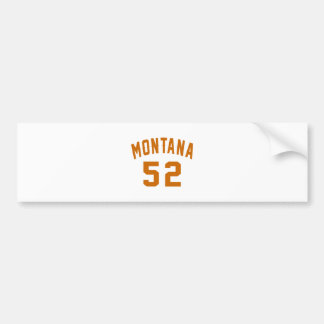 Montana 52 Geburtstags-Entwürfe Autoaufkleber