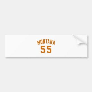 Montana 55 Geburtstags-Entwürfe Autoaufkleber