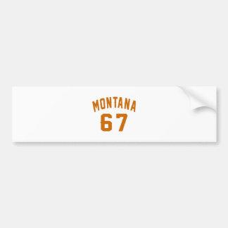Montana 67 Geburtstags-Entwürfe Autoaufkleber