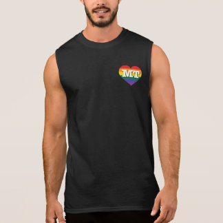 Montana-Gay Pride-Regenbogen-Herz - große Liebe Ärmelloses Shirt