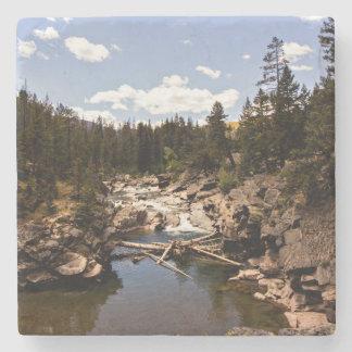 Montana-Gebirgsfluss-Untersetzer Steinuntersetzer