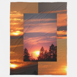 Montana-Himmel-Sonnenuntergänge 60 x 80 Fleecedecke