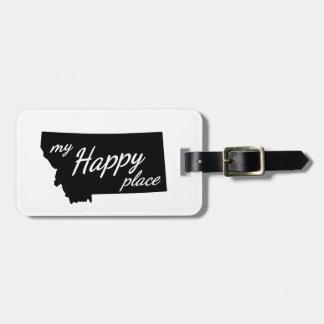 Montana ist mein glückliches Platz-Schwarzes u. Gepäckanhänger