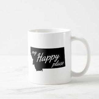 Montana ist mein glückliches Platz-Schwarzes u. Kaffeetasse