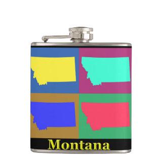 Montana-Karte Flachmann