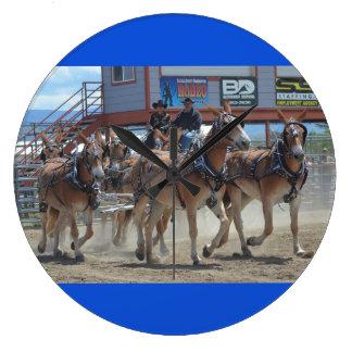 Montana-Maultier-Tage im Juni 2016 Große Wanduhr