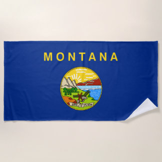 Montana-Staats-Flagge Strandtuch