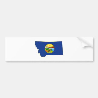 Montana-Staats-Flagge und Karte Autoaufkleber
