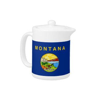 Montana-Staats-Flaggen-Teekanne