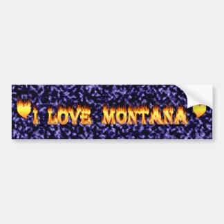 Montanafeuer und -flammen der Liebe I Autoaufkleber