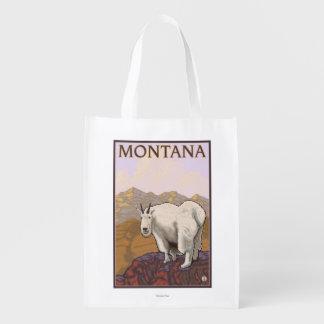 MontanaMountain Ziegen-Vintages Reise-Plakat Einkaufsbeutel