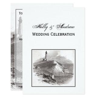 Montauk Punkt-Leuchtturm Hamptons Hochzeit Karte