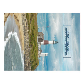Montauk Punkt-Leuchtturm Postkarte