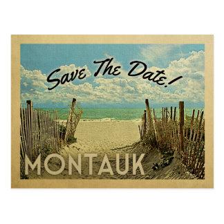 Montauk Save the Date Vintager Strand nautisch Postkarte