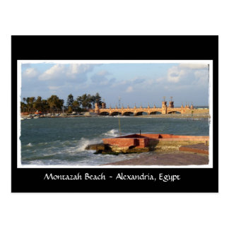 Montazah Strand - Ägypten-Postkarte Postkarte