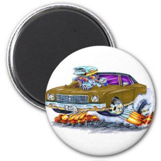 Monte Carlo Brown Auto 1970 Runder Magnet 5,1 Cm