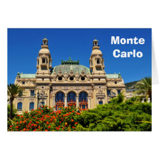 Monte Carlo in Monaco Karte