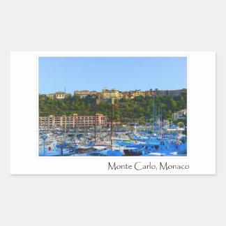 Monte Carlo Monaco Rechteckiger Aufkleber