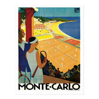 Monte Carlo Monaco Vintage Reise Postkarte
