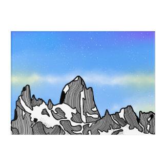 Monte Fitz Roy Gebirgslandschaft Acryl Wandkunst