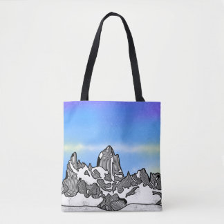 Monte Fitz Roy Gebirgslandschaft Tasche