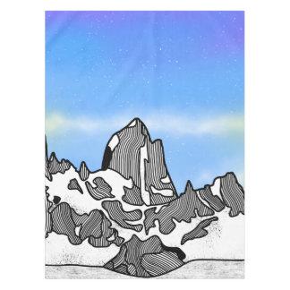 Monte Fitz Roy Gebirgslandschaft Tischdecke
