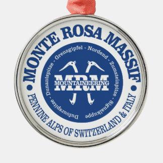 Monte Rosa Gebirgsmassiv Silbernes Ornament