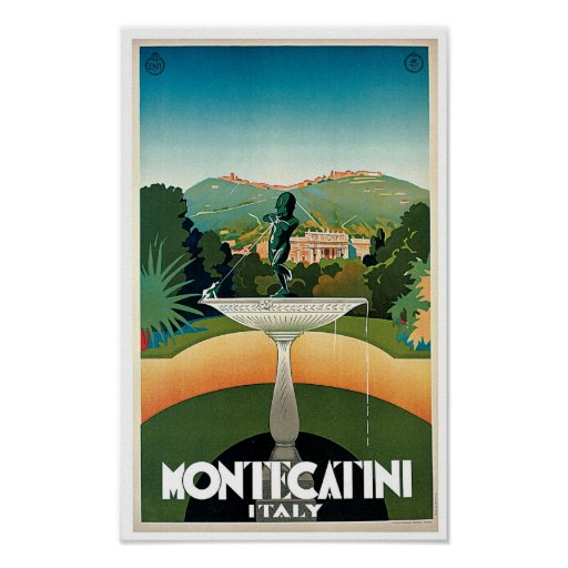 Montecatini Plakat