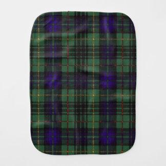 Monteith Clan karierter schottischer Kilt Tartan Baby Spucktuch