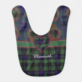 Monteith Clan karierter schottischer Kilt Tartan Babylätzchen