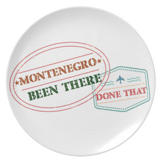 Montenegro dort getan dem melaminteller