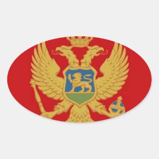 Montenegro-Flagge Ovaler Aufkleber