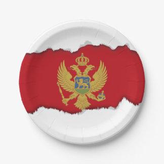 Montenegro-Flagge Pappteller