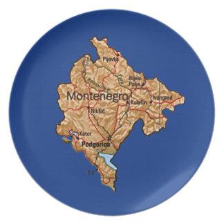 Montenegro-Karten-Platte Teller