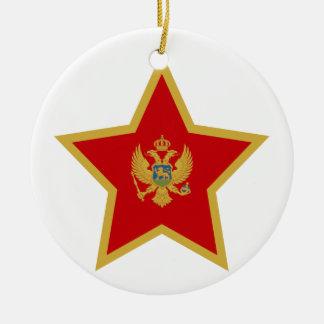 Montenegro-Stern Keramik Ornament