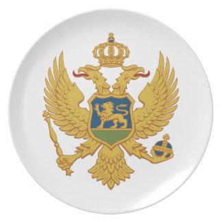 Montenegro-Wappen Teller