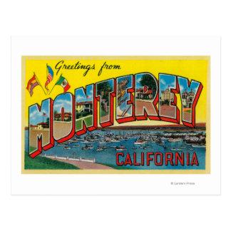 Monterey, Kalifornien - große Buchstabe-Szenen Postkarte