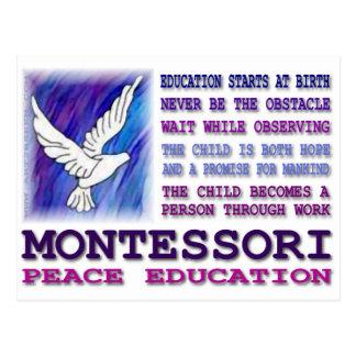 Montessori Taube Postkarte