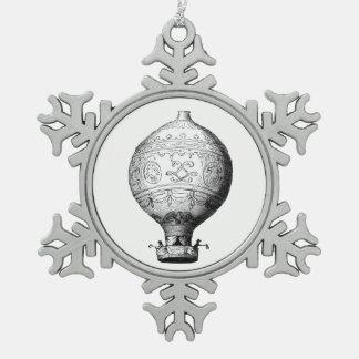 Montgolfier Vintager Heißluft-Ballon Schneeflocken Zinn-Ornament