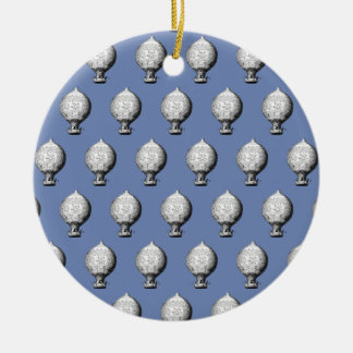 Montgolfier Vintages Heißluft-Ballon-Muster Keramik Ornament