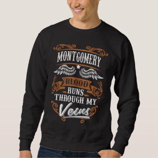 MONTGOMERY-Blut-Läufe durch mein Veius Sweatshirt