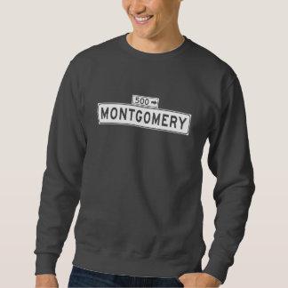 Montgomery-St., San Francisco Straßenschild Sweatshirt