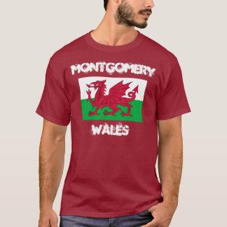 Montgomery, Wales mit Waliser-Flagge T-Shirt