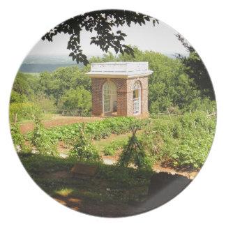 Monticello Ansicht Teller