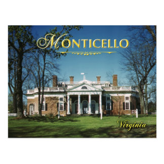 Monticello, Jeffersons Zuhause, Virginia Postkarte